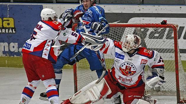 Z utkání Havlíčkův Brod - Beroun (4:1).