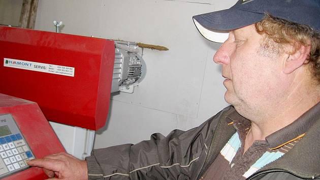 Kotelna na biomasu ve Měňanech