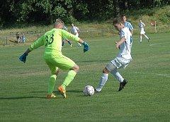Z titulu krajského přeborníka starších dorostenců se radovala po výhře 2:0 Čáslav.