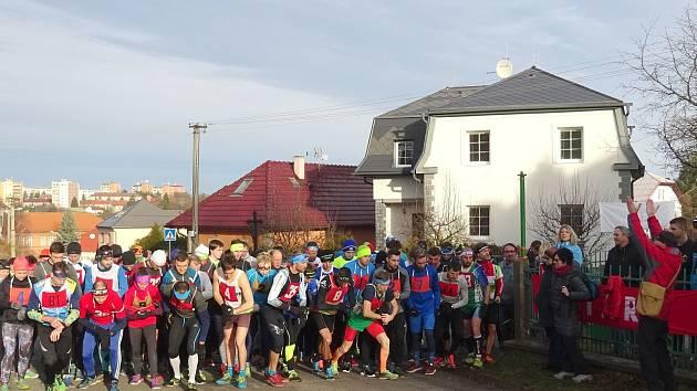 Vánoční Běh Komárovem, start z roku 2017.