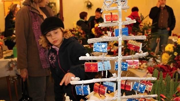 Vánoční výstava zahrádkářů na nižborském zámku.
