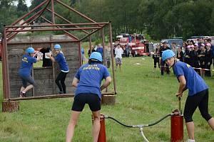 Z hasičského odpoledne v Běštíně.