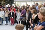 Ze slavnostního křtu 'Čtvrté knihy pohádek od dětí pro děti' ve Skanska Corse Court v pražském Karlíně.
