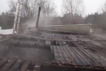 Požár garáže v Zaječově-Kvani.