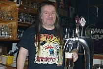 Martin Hruška, majitel rockového klubu Prdel v Berouně.