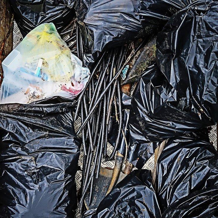 Nahromaděný odpad.