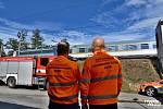 Ve Všenorech došlo v úterý 1. října 2019 dopoledne k smrtelnému střetu vlaku s chodcem.