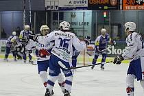 1.liga hokeje: Vrchlabí - Beroun 4:3 pp. Ve 48. minutě zápasu ve Vrchlabí se takto radovali Medvědi z vedení, které by jim zajistilo postup do play–off, patnáct vteřin před koncem však přišel smrtící Gengelův úder.