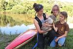 Pomoc labutí rodince u Nižboru.