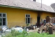 Požár rodinného domu ve Svaté