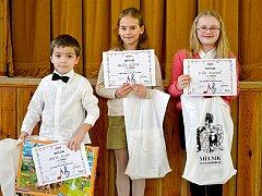 TŘETÍ cena Martina Jiráka (zcela vlevo)  je po pěti nominacích v řadě prvním oceněním pro hořovické pěvce z celostátního kola této soutěže.