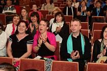 V sále berounského kulturního domu Plzeňka se v pátek a v sobotu konala dvoudenní Přehlídka pěveckých sborů.