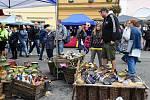 Hrnčířské trhy na Husově náměstí v Berouně.