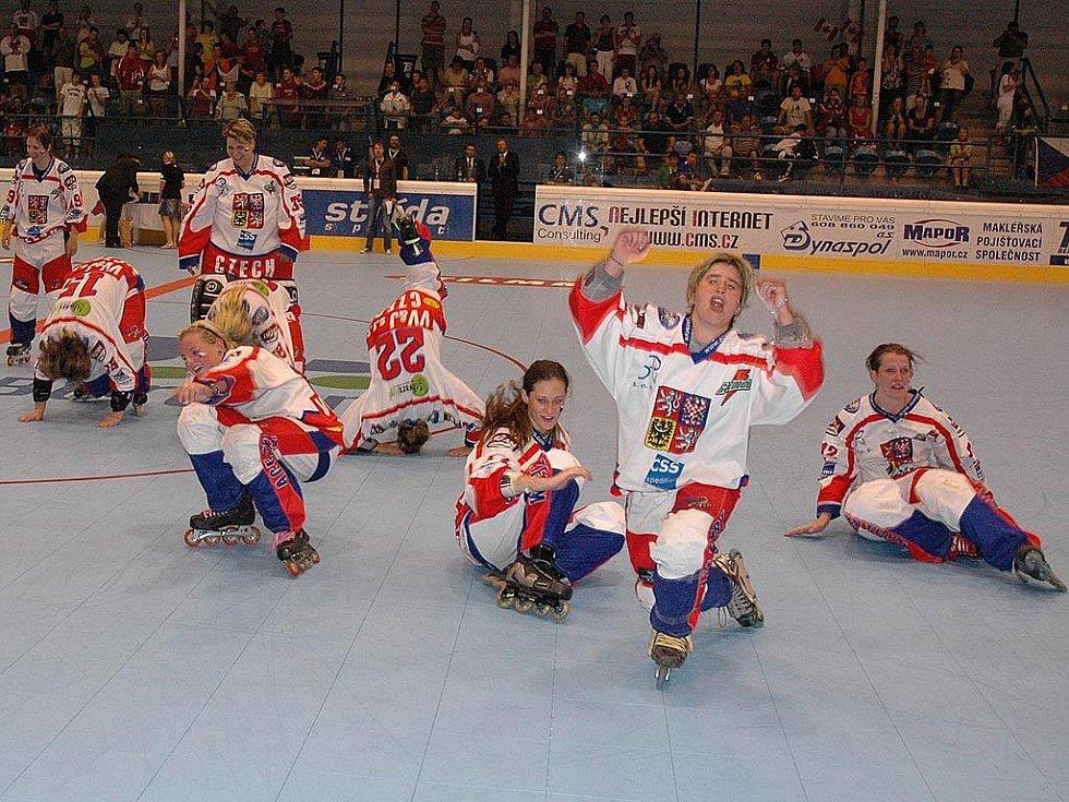 Česká radost z mistrovského titulu