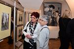 Z vernisáže výstavy 'Vilém Kropp - 100 let - Retrospektiva' v Muzeu Českého krasu v Berouně.