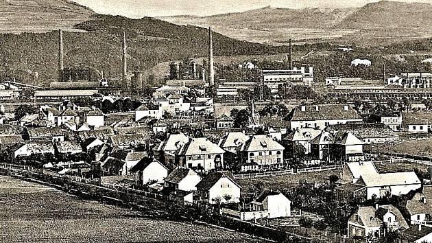 Pohled na město Králův Dvůr kolem roku 1935.