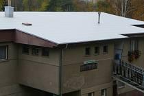Střecha budovy Areál zdraví pocházela z roku 1961