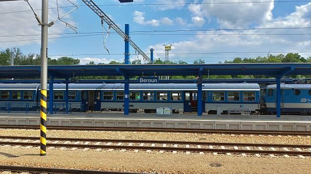 Vlakové nádraží v Berouně.