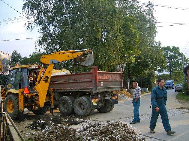První etapa výstavby kanalizace v Bykoši byla zahájena na podzim loňského roku