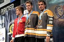 Tomáš Ludvík (vpravo) skončil v Plzni jednou na třetím místě.