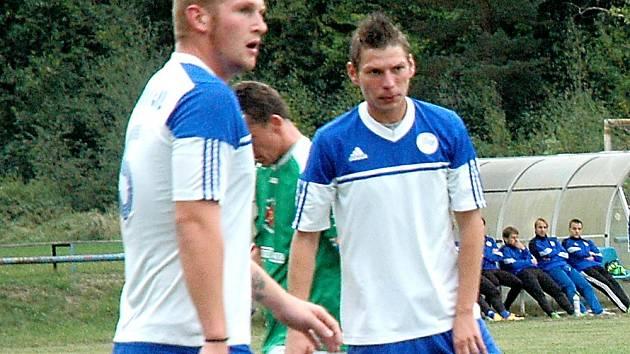 Dan Hájek (vpravo) dal dva góly.