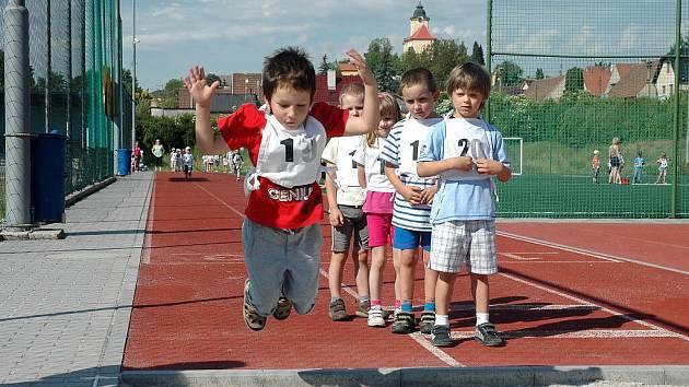 Sportovní hry dětí z králodvorských mateřských školek