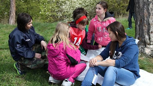 Hlídka mladších žáků z králodvorské školy skončila na třetím místě.