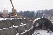 Stavba tunelu v Oseku