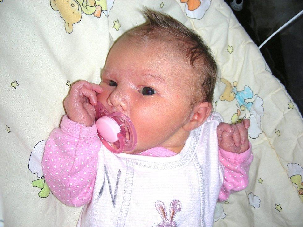 Anna Vlčková, prvorozená dcerka manželů Gabriely a Štěpána z Králova Dvora na svět moc nepospíchala. První termín jejího narození byl plánován na polovinu prosince 2013, ale Andulka se rozhodla přijít na svět až 10. ledna 2014, vážila 3,126 kg a měřila 49
