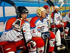 Retro Cup: Střídačka Lokomotivy Beroun.