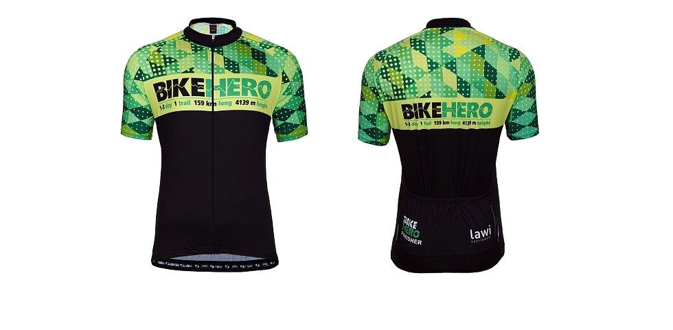 Bike Hero, krásný cyklistický okruh kolem Berounska a Rakovnicka zavádí účastníky na čtyři hrady, ale rozhledny a další skvělé destinace.  vyhrát můžete i stylové dresy