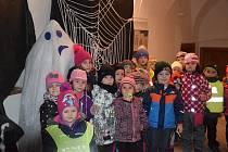 Halloweenské hrátky v  Muzeu Českého krasu v Berouně  si nenechaly ujít stovky dětí.