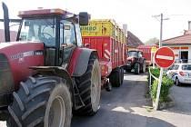 Středeční blokáda zemědělců na Berounsku