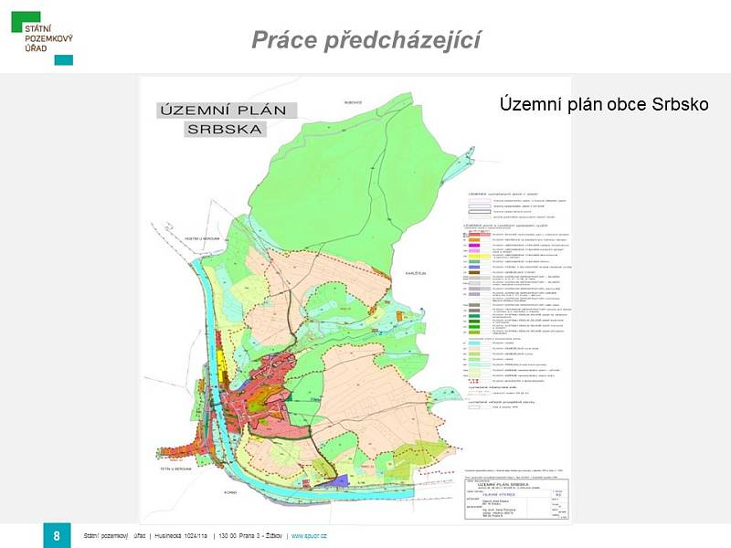 Srbsko - územní plán.