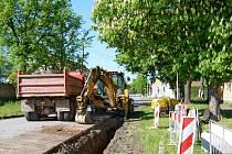 Výstavba kanalizace v Neumětelích