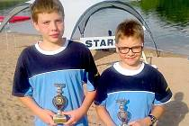 Oba úspěšní plavci, David Ludvík vlevo