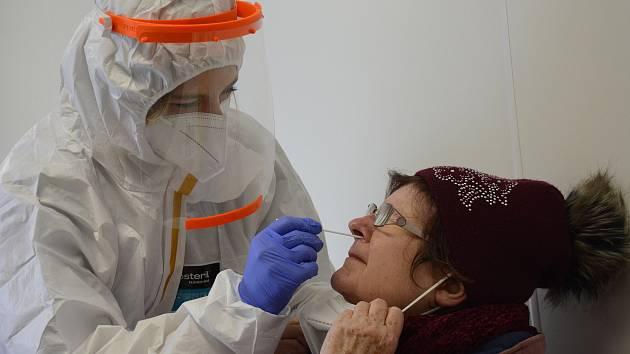 Antigenní testování. Ilustrační snímek