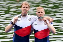 Jan Cincibuch (vpravo) a Jakub Podrazil se probojovali slavně na olympiádu do Tokia.