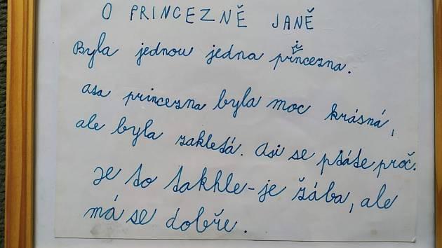 Autorka, dnes pětadvacetiletá, napsala kouzelnou pohádku, když jí bylo sedm let.