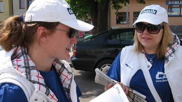 Berounský deník vyrazil do ulic mezi čtenáře