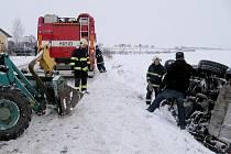 Nehoda u Neumětel skončila bez zranění