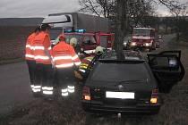 Řidič utrpěl středně těžká zranění