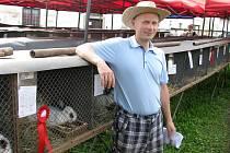 ČESTNOU CENU si ze všeradické výstavy chovatelů odvezl i Josef Košťálek ze Zdic.