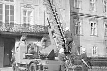 Výstava představuje i archivní snímky někdejšího Sboru dobrovolných hasičů Hořovice.