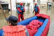 Povodně na Berounsku pustošily město