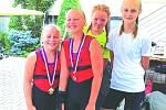 Hned dvě berounské posádky mladší žaček na dvojskifech vybojovaly finále A.