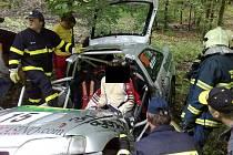 Nehoda při závodech Berounský vrch