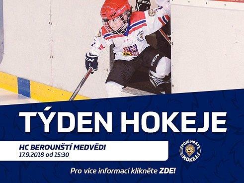 pozvánka na akci Týden hokeje v Berouně.