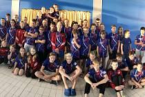 Berounští plavci Lokomotivy na závodech v Kladně.