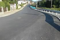 Rekonstruovaný průtah Řevnicemi.